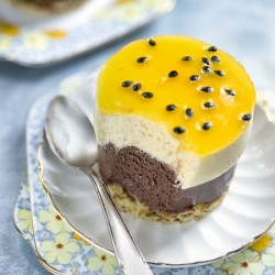 Chocolate and passionfruit entremet
