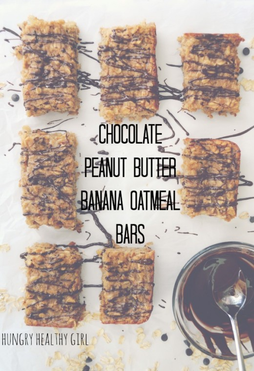 Chocolate Peanut Butter Banana Bars