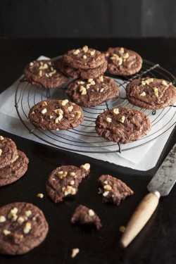 Chocolate walnut brownie cookie