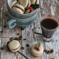 Christmas morning macarons