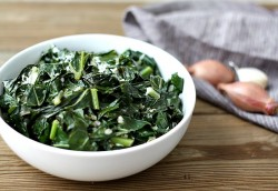 Collards with Shallots