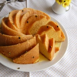 Cornmeal Cake with Passion Fruit Glaze Recipe