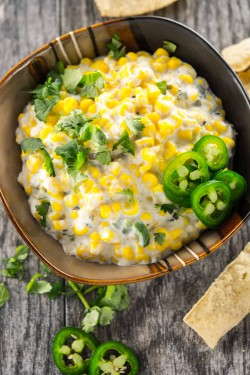 Crockpot Corn and Jalapeno Dip