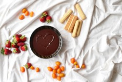 Dark Chocolate Fondue with Cardamom and Orange Recipe