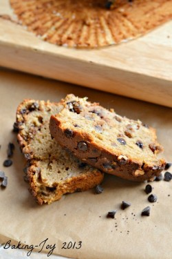 Dark Chocolate Walnut Banana Bread
