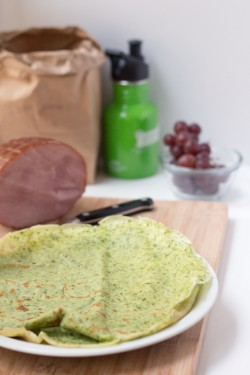 French Savory Spinach Crêpes
