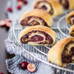 GF Cranberry Chocolate Rugelach