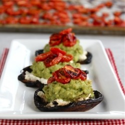Goat Cheese and Avocado Portobellos