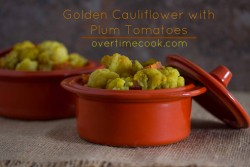 Golden Cauliflower with Plum Tomato