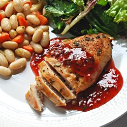 Grilled Chicken Breast with Strawberry Balsamic Vinegar Sauce