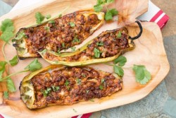 Grilled Chorizo and Cheese Stuffed Peppers