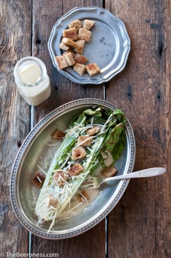 Grilled Romaine Salad with IPA Caesar Dressing Recipe