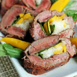 Grilled Stuffed Flank Steak