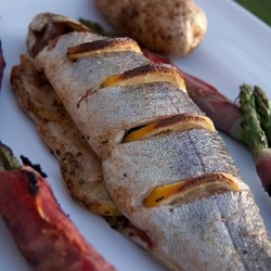 Grilled Trout with Lemon and Oregano