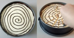 Halloween Spiderweb Cheesecake Recipe