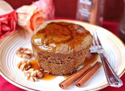 Healthy Pumpkin Microwave Cake