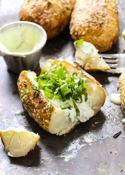 Herby Baked Potatoes