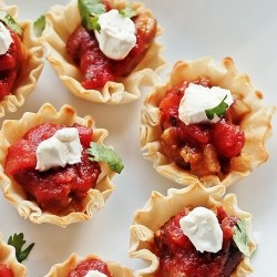 Kidney Bean Salsa Sour Cream Phyllo Cups Recipe