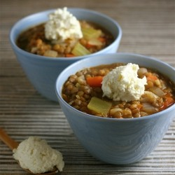Lentil Vegetable Soup with Feta