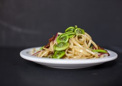 Linguine with Fiddleheads