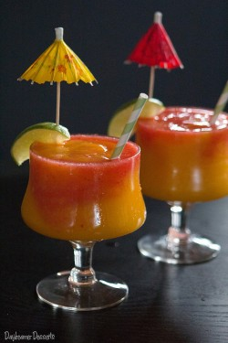 Mango Strawberry Swirl Daiquiri Recipe