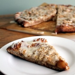 Maple Glazed Whole Wheat Spiced Apple Pizza Recipe