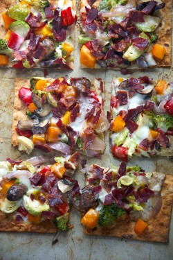 Maple Roasted Veggie Flatbread