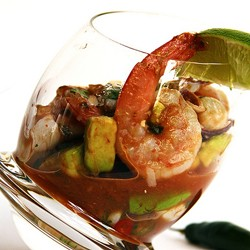 Mexican and Thai Style Seafood Cocktails