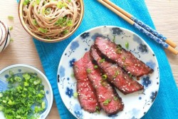 Miso Marinated Flat Iron Steak