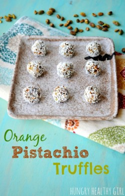 Orange Pistachio Truffle