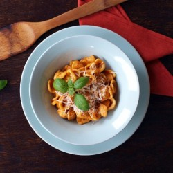 Orecchiette with Red Pepper Pesto