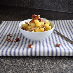 Overnight Oats with Sauteed Apples and Pecans Recipe