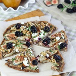 Pear Fig Goat Cheese Pizza
