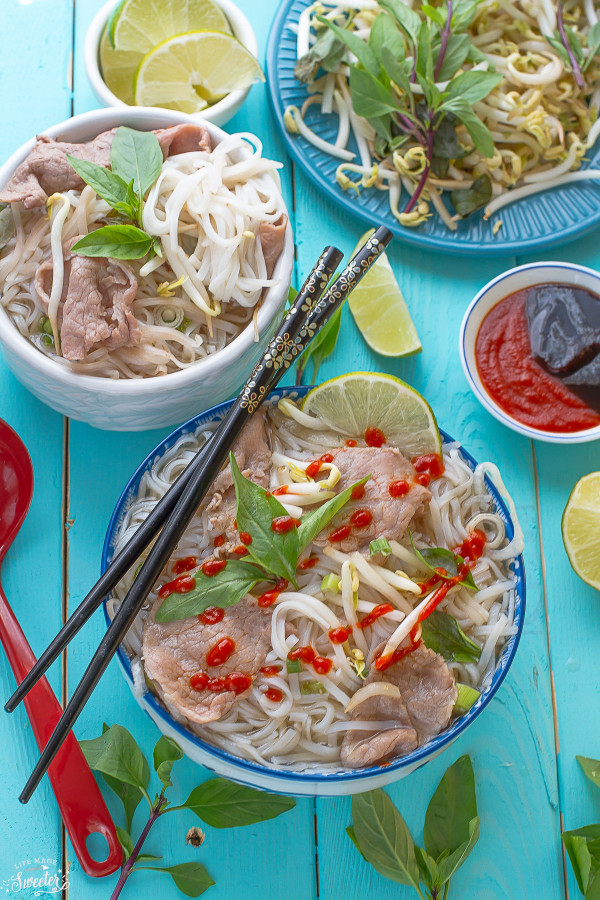 Pho Beef Rice Noodle Soup