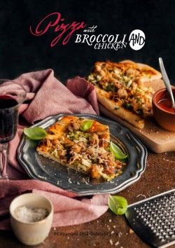 Pizza with Broccoli and Chicken