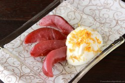 Poached Pear with Greek Yogurt