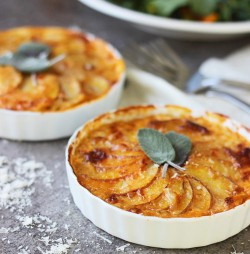 Pumpkin and Potato Gratins