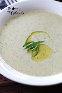 Roasted Asparagus Brie Soup