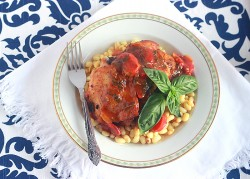 Roasted Chicken Thighs with Fennel and Tomatoes Recipe