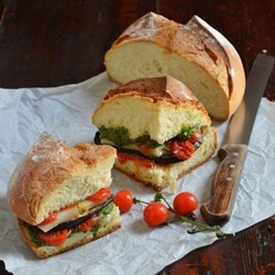Roasted Vegetable Pesto Sandwich Recipe