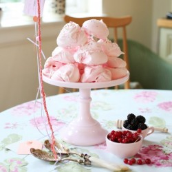 Rose Water Pink Meringues