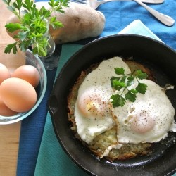 Rosti with Fried Eggs Recipe