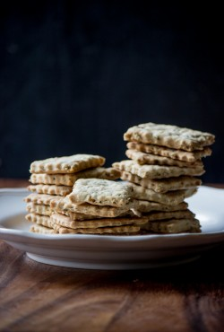 Savory Oat Crackers