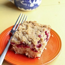 Sour Cherry White Chocolate Crumb Cake Recipe