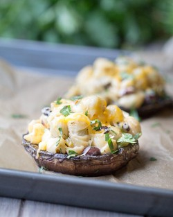 Southwest Pasta Stuffed Mushrooms