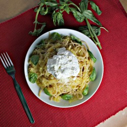 Spaghetti with Spaghetti Squash in Lemon Garlic Sauce