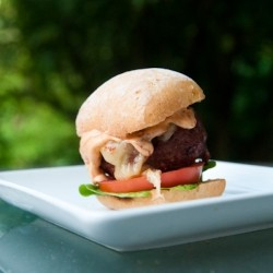 Spicy Pepperjack Stuffed Burgers with Chipolte Lime Mayo Recipe
