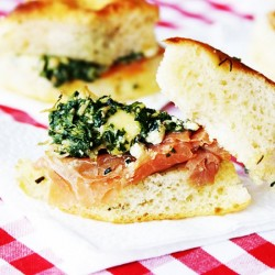 Spinach Sandwich with Parma