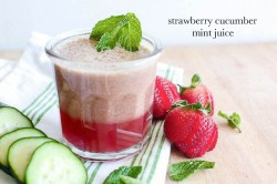 Strawberry Cucumber and Mint Juice