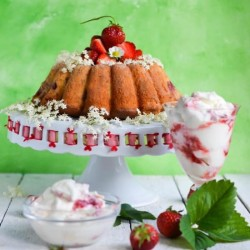 Strawberry Elderflower Cake